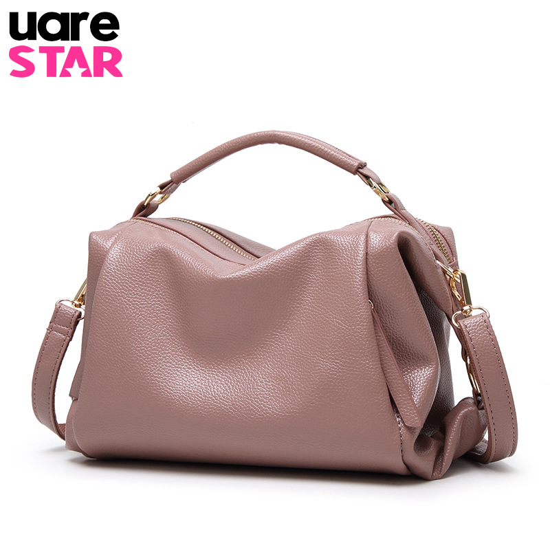 Soft Pu Leather Handbags Women Bag Zipper Ladies Shoulder Bag Girl Hobos Bags Brand Design Tote Female Messenger Bag