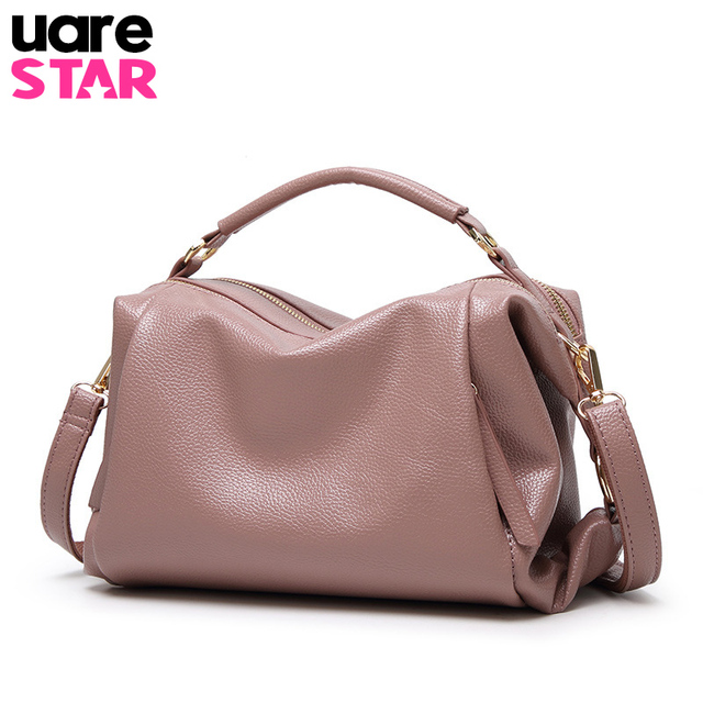 Soft Pu Leather Handbags Women Bag Zipper Ladies Shoulder Bag Girl Hobos Bags  Brand Design Tote 2d80ef603b193