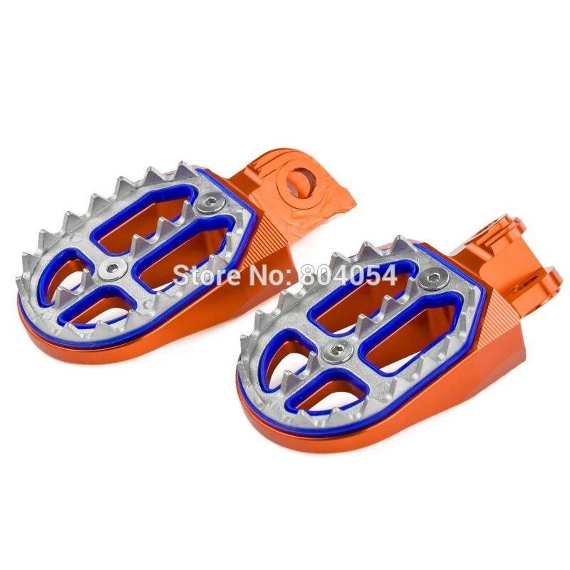 Billette CNC Repose-pieds Repose Repose-pieds Pédales Pour KTM 65 85 125 150 200 250 300 400 450 520 525 530 SX SX-F EXC EXC-F SMR FREERIDE