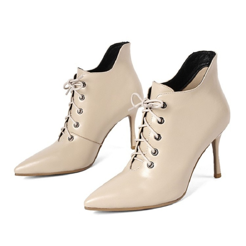 2018 autumn and winter new line with stiletto pointed stiletto high heel womens booties beige 03072018 autumn and winter new line with stiletto pointed stiletto high heel womens booties beige 0307