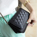 2016 Hot Sale Single Clutch Women Leather Handbags New Summer Bag Korean Small Fragrant All-match Rhombus Chain Spring Diagonal