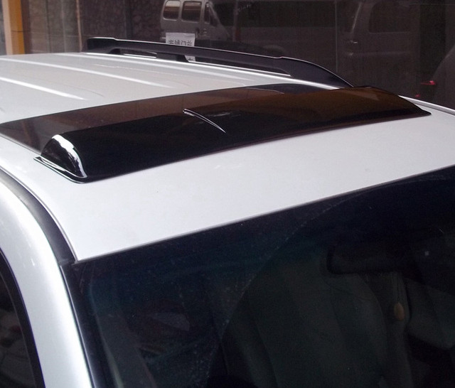 Techo solar lluvia deflectores tiempo gruard shdows Acrílico escudos para Land Cruiser Prado 2700 LC150 2010 ~ 2014