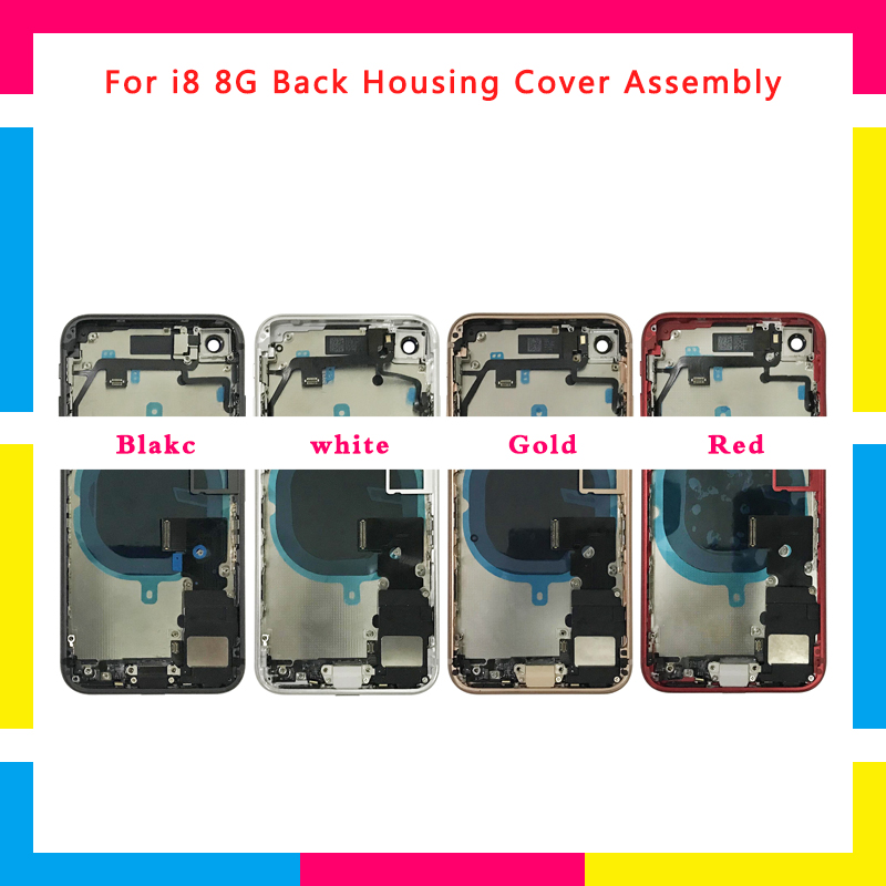 High Quality Full Back cover Housing Assembly Battery Cover Chassis Frame with Flex Cable For iphone 8 8G and 8 Plus or For XHigh Quality Full Back cover Housing Assembly Battery Cover Chassis Frame with Flex Cable For iphone 8 8G and 8 Plus or For X