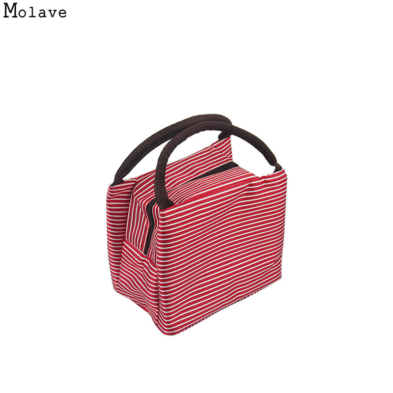 New Fashion Portable Insulated Canvas lunch Bag Thermal Food Picnic Lunch Bags for Women kids Men Cooler Lunch Box Bag Tote oc18
