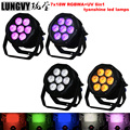 Бесплатная доставка 4 шт./лот 7x18 Вт RGBWA + UV 6in1 LED Par свет DMX512 сценическое освещение DMX Освещение для помещений с использованием диско DJ Бар