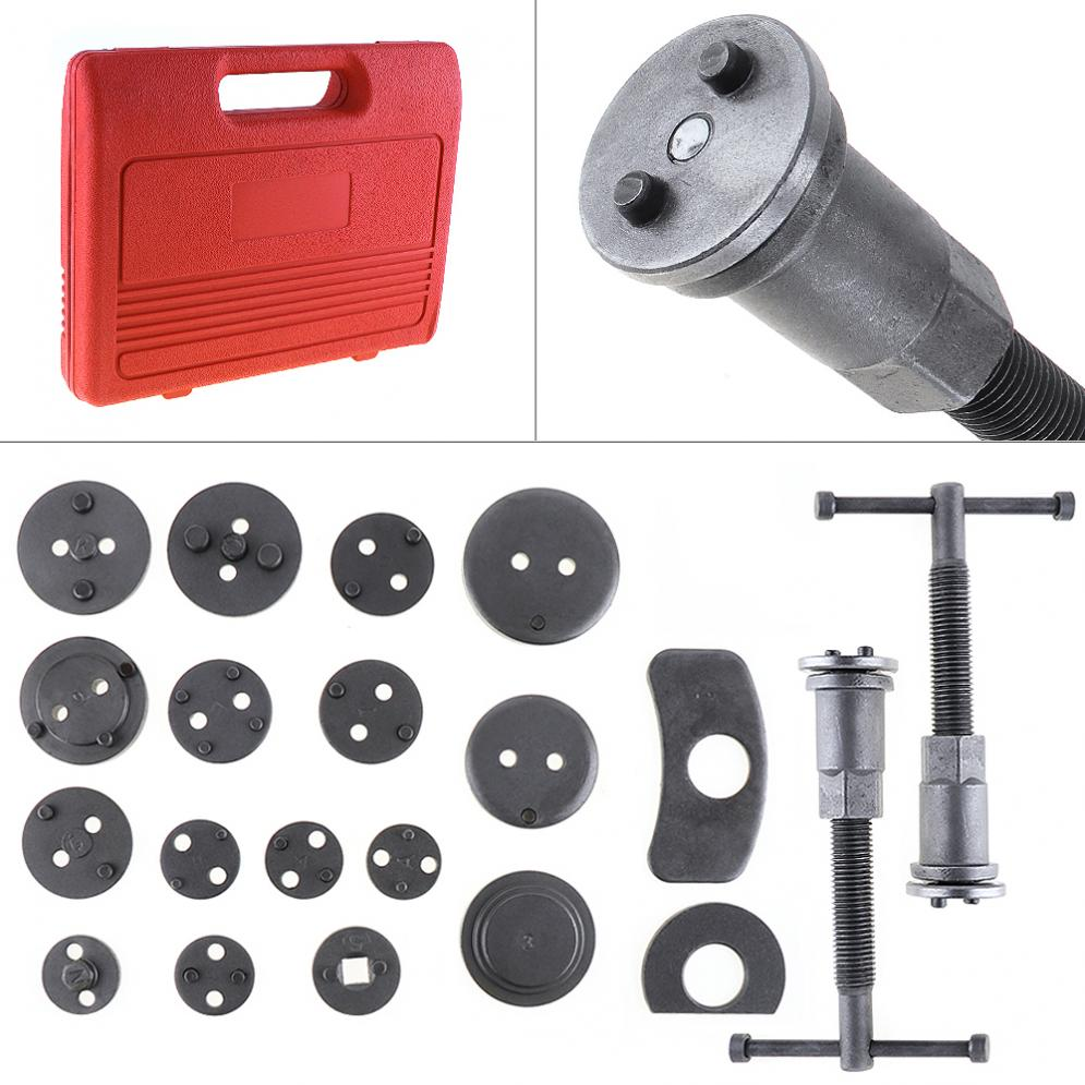 22pcs/Set Universal Butterfly Car Disc Brake Caliper Wind Back Brake Piston Compressor Tool Kit For Most Garage Repair Tools 2 pair universal car 3d style disc brake caliper covers front rear