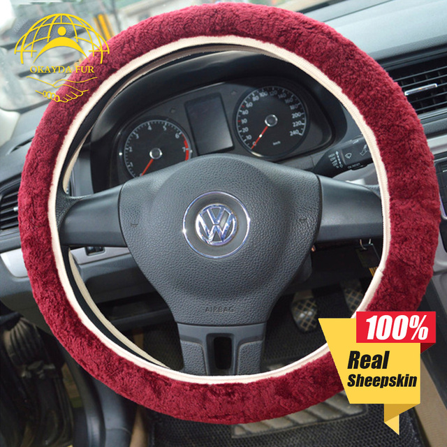 okayda steering wheel cover fur wool universal anti slip functionokayda steering wheel cover fur wool universal anti slip function easy install sheepskin winter warm fit most cars hipping free