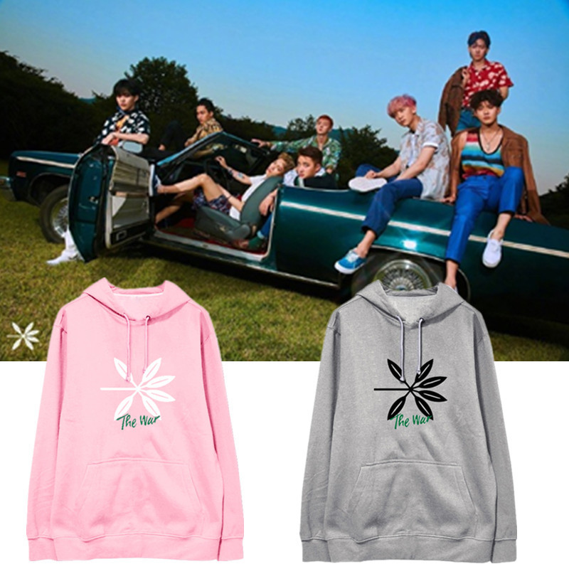 kpop exo regular four series with the hooded plus velvet spring and autumn students hedg ...