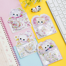 1pack/lot Kawaii Cute Cartoon Cats Style Stickers DIY Notes Tools For Album Or Diary Decoration Sticker Students Kids Gift