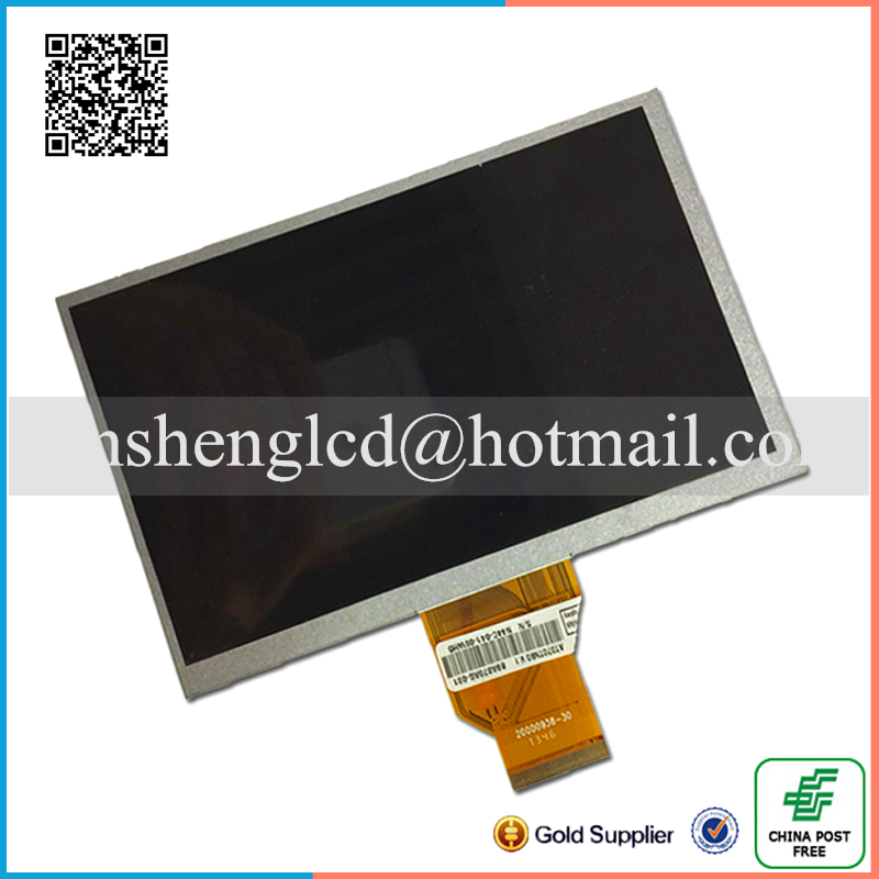 NEW 7inch TFT AT070TN90 lcd screen AT070TN90 V.1 800*480 resolution thickness 3mm for Car DVD lcd screen free shipping