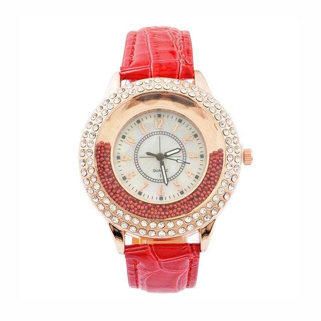 אישה יוקרה פנאי גבירותיי שעוני יד עסקי טמפרמנט נשים של קוורץ שעון יפה מזכרות יד שעון 2018 # D
