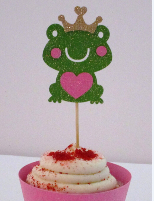 Scintillio Principe Ranocchio Toppers Cupcake Matrimonio compleanno Festa di  Fidanzamento di Addio Al Nubilato addio al Nubilato Notte cibo prende in ... e1bb72d0c99a