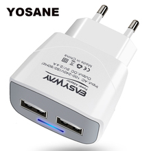 2 Ports Quick Charge 3.0 USB Charger EU Plug Power Adapter for iPhone Samsung Xiaomi Mobile Phones Charger QC3.0 Travel Charging gocomma 3 usb ports qc 3 0 power eu plug quick adapter charge