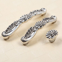 160mm kitchen cabinet handle Antique silver cupboard pull  vintage Distress drawer dresser wardrobe funiture door handles pulls