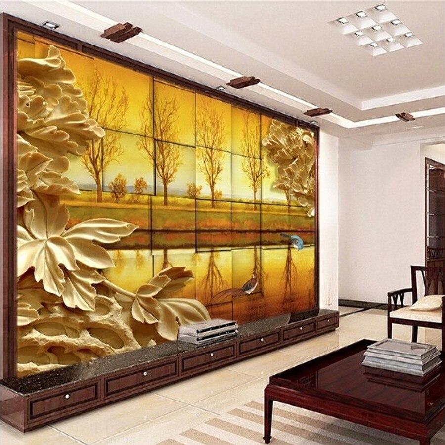 Beibehang Vista Para O Papel De Parede 3d Papel De Parede Sala De  -> Mural Parede Sala