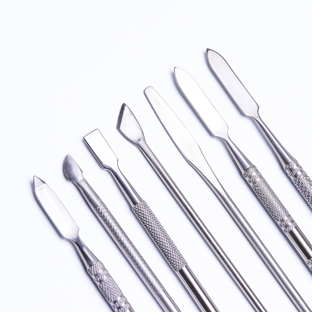 1pcs Stainless Steel Nail Cuticle Pusher Professional Remover Dead Skin Manicure Spoon 7 Type Trimmer Nail Art Care Tools TR809