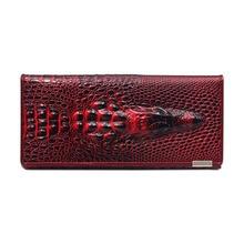 Fashion New Women 3D Crocodile Pattern Hard Cover Type Wallet Handbag LT8888