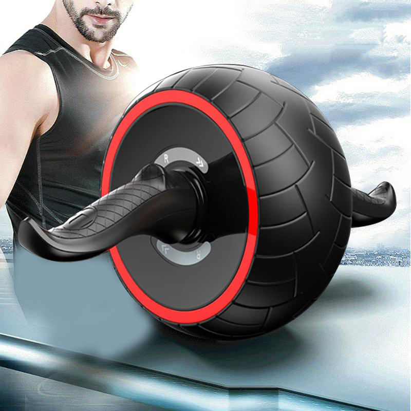 fc2e67c16d Dropwow Abdominal Wheel Ab Roller Trainer Fitness Equipment Gym Exercise  Rebound Wheel Workout Resistance Sports Body Building tools