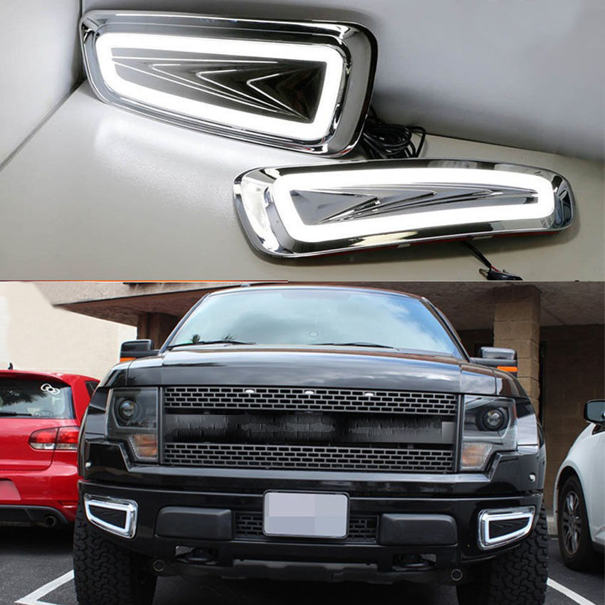 White LED Driving Fog Light Lamp Kit Fit for Ford F-150 SVT Raptor Recon 2010-2015