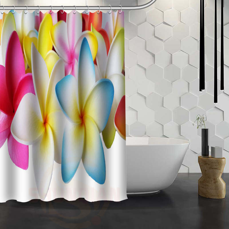 Aliexpress.com : Buy Hot Sale Custom Plumeria Flower Shower Curtain  Waterproof Fabric Bath Curtain For Bathroom F#Y1 17 From Reliable Curtains  Waterproof ...