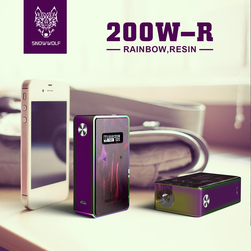 2pcs/lot Snowwolf 200W Mod Box Powered by 18650 Battery Box Mod E Cigarette Fit for 510 Thread Atomzizer e-cigarettes Vaporizer smoant battlestar 200w tc mod electronic cigarette mods vaporizer e cigarette vape mech box mod for 510 thread atomizer x2093