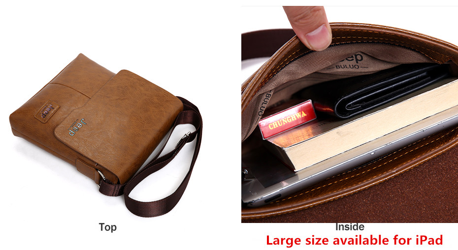 d87a043d16 JEEP BULUO Man Messenger Bag 2 Set Men Pu Leather Shoulder Bags Business  Crossbody Casual Bag Famous Brand ZH1505 8068