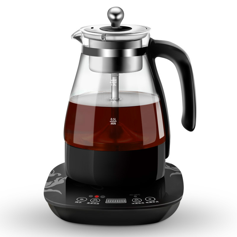 Electric kettle Black tea boiled electric pot of pu er machine automatic glass steam cooking