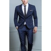 2017 Terno Masculino New Men Suits Slim Fit Men Wedding Suits Tuxedos Best Men Suits for Wedding Groom Suit (Jacket+Pants)