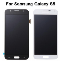 For Samsung Galaxy S5 I9600 G900 G900F G900T LCD Touch Screen Digitizer Replace Adjustable Brightness