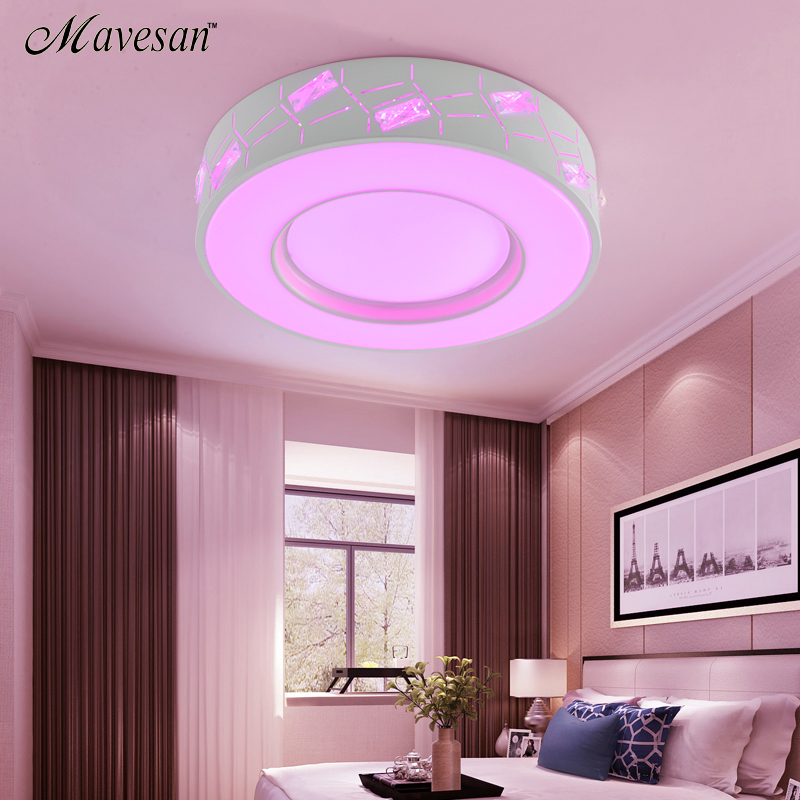 NEW LED Ceiling Lights round Dimmable colorful Lamp For Livingroom ...