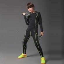 Компрессионные колготки для бега, детские штаны для баскетбола, мужские тренировочные комплекты для бега, леггинсы для фитнеса, спортзала, бега, колготки, спортивный костюм для мальчиков