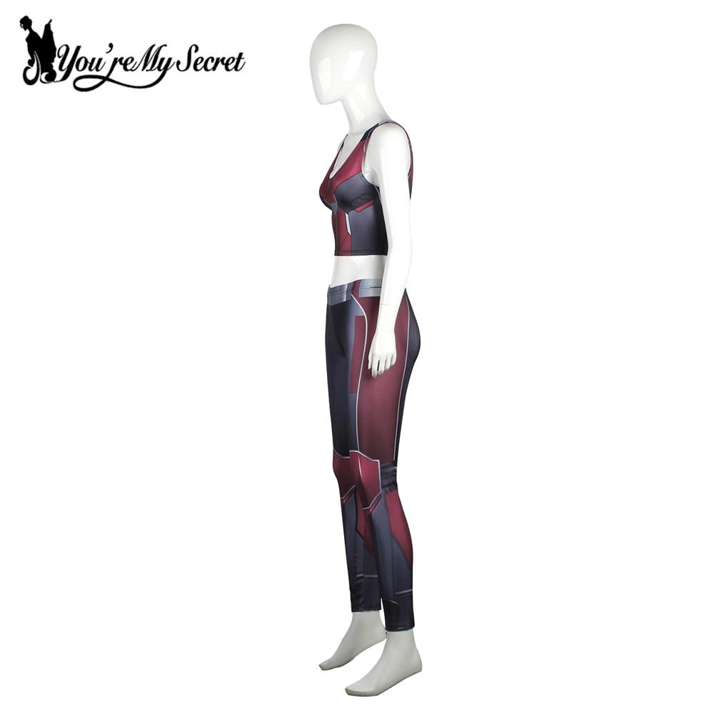 [Tu es mon secret] Mode Armure Rouge Bande Dessinée Cosplay Leggings - Vêtements pour femmes - Photo 5
