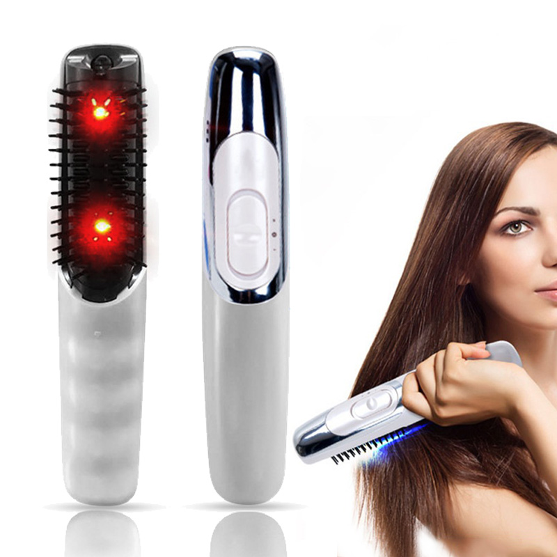 Hot Electric Wireless Infrared Ray Anti Hair Loss Growth Vibration Head Massage Comb Massager Brushes Curling Irons HY99 JU20 green sandalwood combed wooden head neck mammary gland meridian lymphatic massage comb wide teeth comb