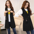 2017 spring long waistcoat female coat vest sleeveless vest women suit harness cardigan jacket