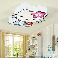 Hello Kitty Потолочные светильники светодиодные энергосберегающие потолочные Лампы для мотоциклов дома Освещение в помещении Для детей номер Г