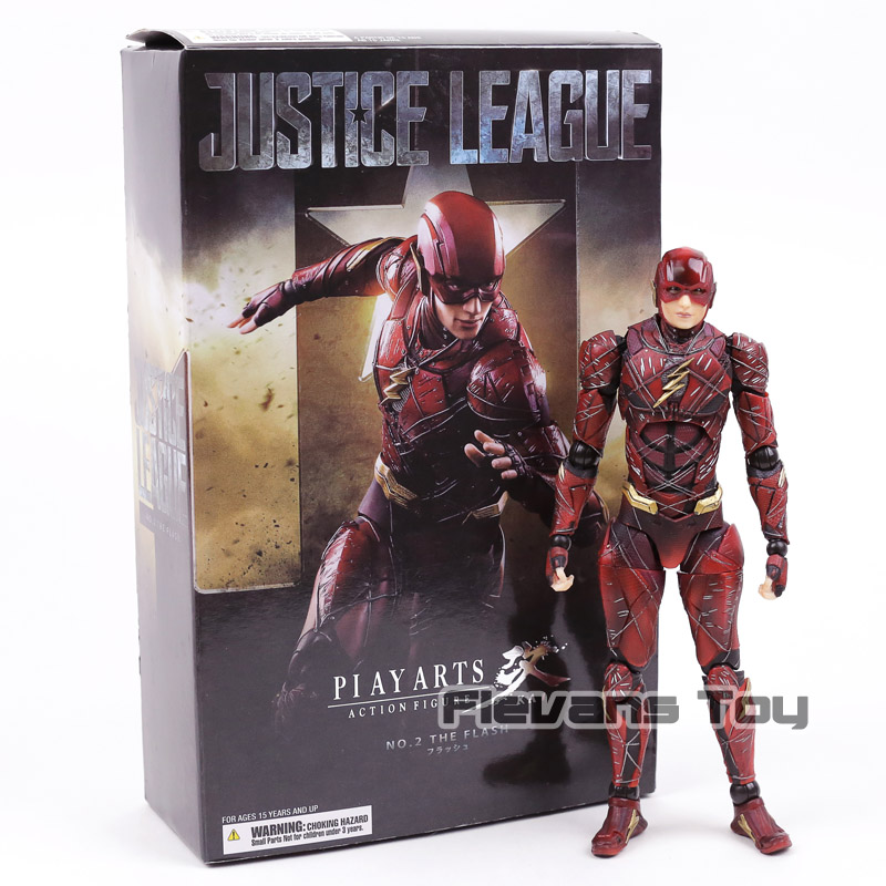 Square Enix Play Arts Kai Justice League No. 2 The Flash PVC Action Figure Collectible Model Toy play arts kai street fighter iv 4 gouki akuma pvc action figure collectible model toy 24 cm kt3503