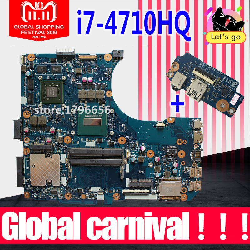 все цены на Send board+N551JK Motherboard I7 CPU GTX850 For ASUS N551JK G551J N551JQ N551JW N551JM N551J laptop Motherboard N551JK Mainboard онлайн