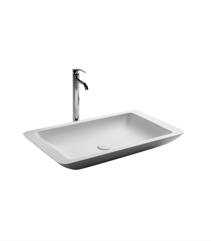 Bathroom Rectangular Corain Stone Counter Top Vessel Sink Cloakroom Colored Resin  Acrylic Wash Basin 3859 647
