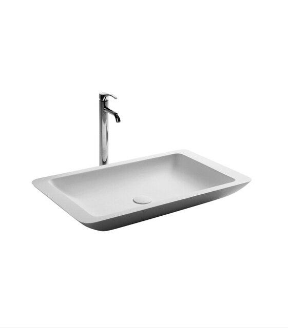 € 324.6 |Salle de bain rectangulaire en pierre Corain comptoir évier  vestiaire résine colorée acrylique lavabo 3859 647 dans Lavabos de ...