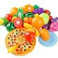 24 pcs crianças plástico kitchen toys alimentos frutas legumes corte crianças pretend play toy educacional cozinha toys play food multicolor