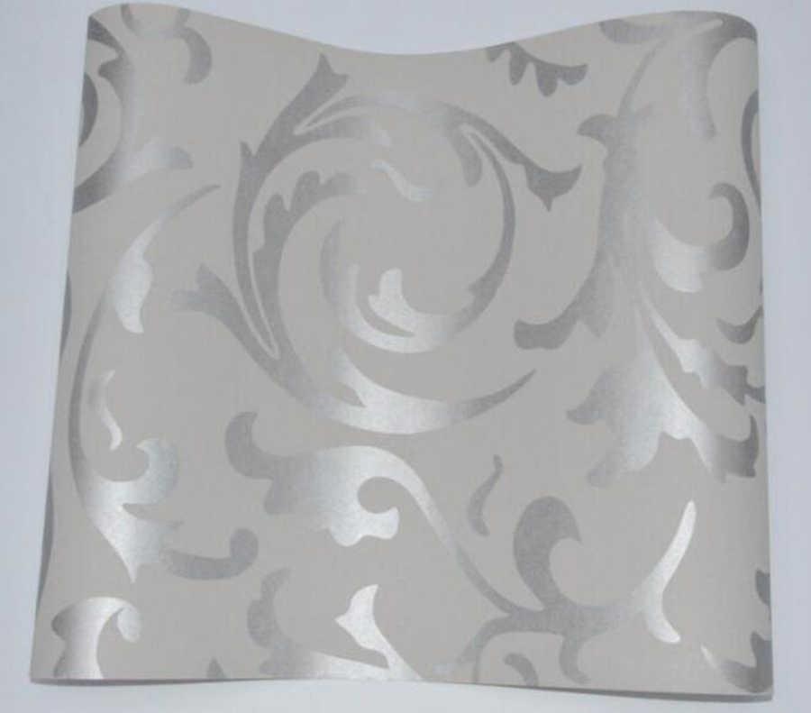 Europese Stijl Vliesbehang Klassieke Muur Papierrol Paars/Grijs Wandbekleding Luxe Behang Bloemen Papel De Parede v1