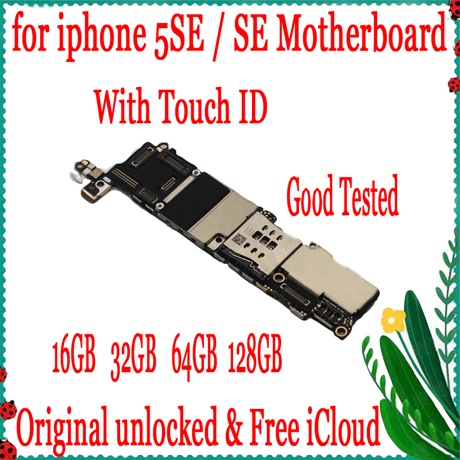 Factory unlocked for iphone SE Motherboard without Touch ID,For iphone 5SE SE Logic board with Full Chips,16GB 32GB 64GB 128GBFactory unlocked for iphone SE Motherboard without Touch ID,For iphone 5SE SE Logic board with Full Chips,16GB 32GB 64GB 128GB