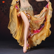 Lace fishtail skirt Belly Dancing Clothing Long Full Circle Skirts Wrapped Slits Skirt Women Dance (without belt)