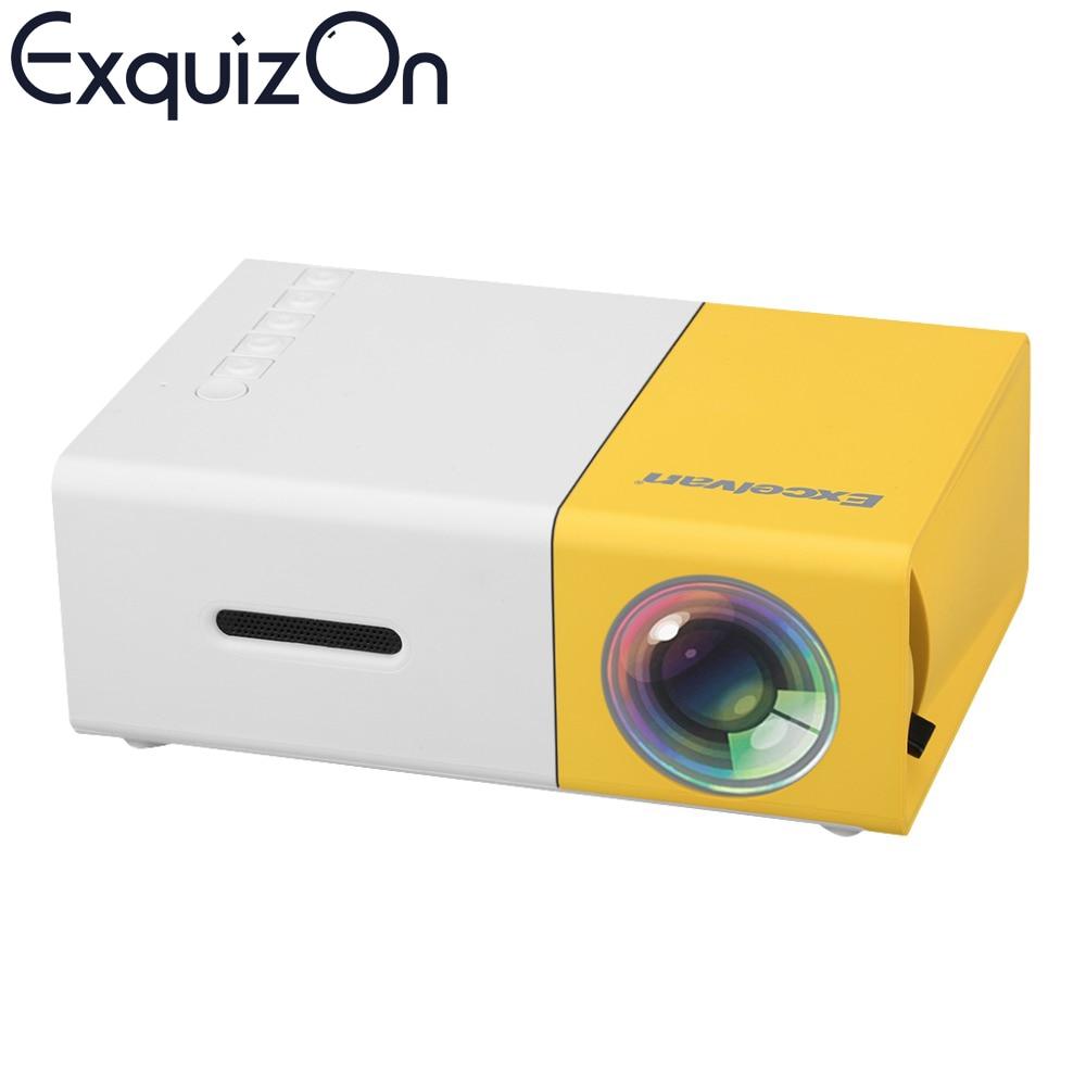 Prix pour Date Excelvan Mini YG300 LCD Projecteur 400-600 Lumens 320x240 Pixels 3.5mm Audio/HDMI/USB/SD Entrées Médias Proyector/Beamer