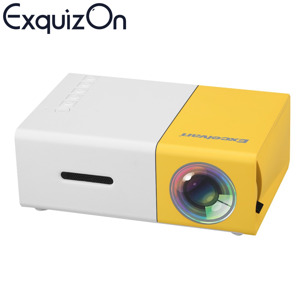 Newest excelvan mini yg300 lcd projector 400 600 lumens for Mini lcd projector