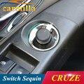 De Acero inoxidable espejo retrovisor perilla círculo decorativo Pegatina Para Chevrolet Cruze Malibu AVEO Opel ASTRA J mokka Insignia Del Coche