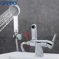 GAPPO acqua miscelatore Rubinetto del bagno vasca miscelatore del bacino sink faucet single hole miscelatore rubinetto in ottone cascata wc lavabo GA1204