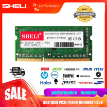 SHELI 8GB (1x8GB) PC3L-12800 DDR3L 1600Mhz 204-pin