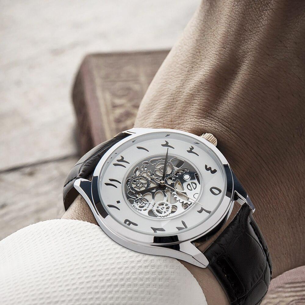Arabic Watches Men, Arabe Montres Hommes, Leather Arabian Watch