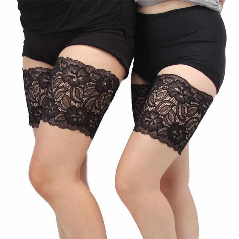 2019 Uyluk Bantları Siyah Yaz Seksi Dantel Çiçek Tasarım Kadın Anti-skid Çorap Uyluk Jartiyer Bacak Isıtıcıları Bir Çift s-4XL